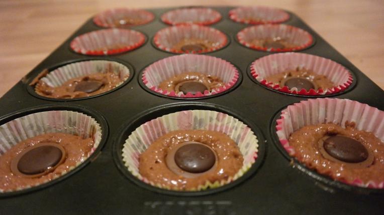 Toffifee-Cupcakes vor dem Backen