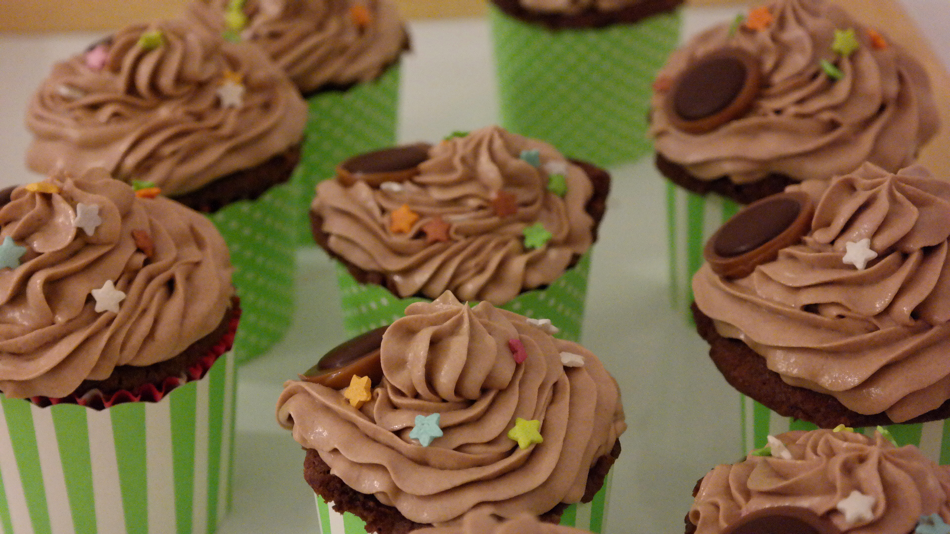 Toffifee-Cupcakes mit Creme Cheese Frosting