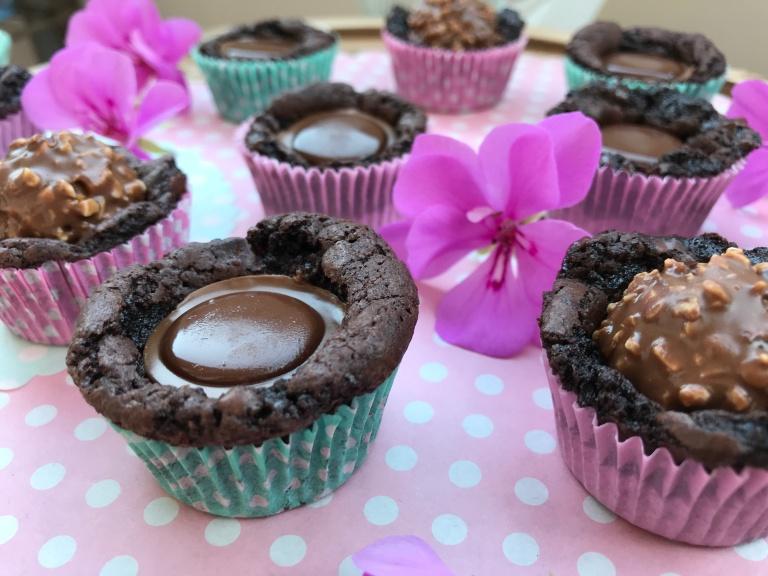 Toffifee-Mini-Brownies