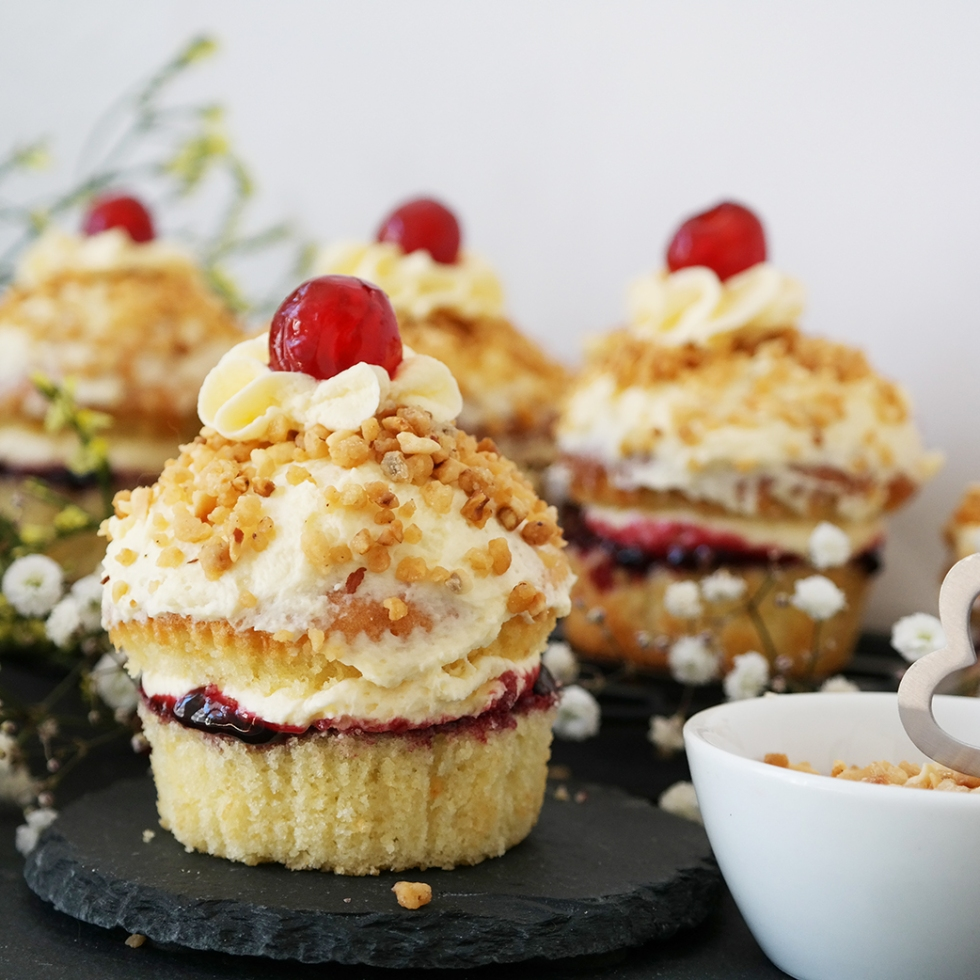Frankfurter Kranz Cupcakes mit Lrokant
