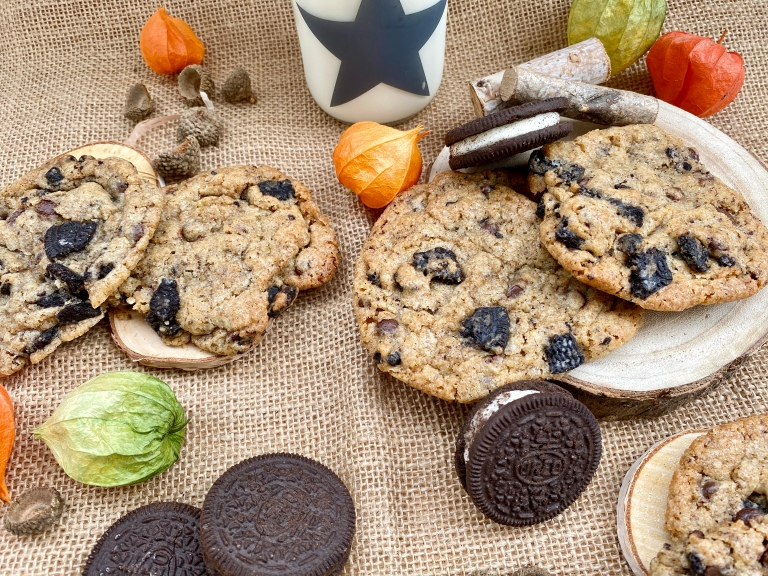 Oreo Cookies mit Schokostückchen
