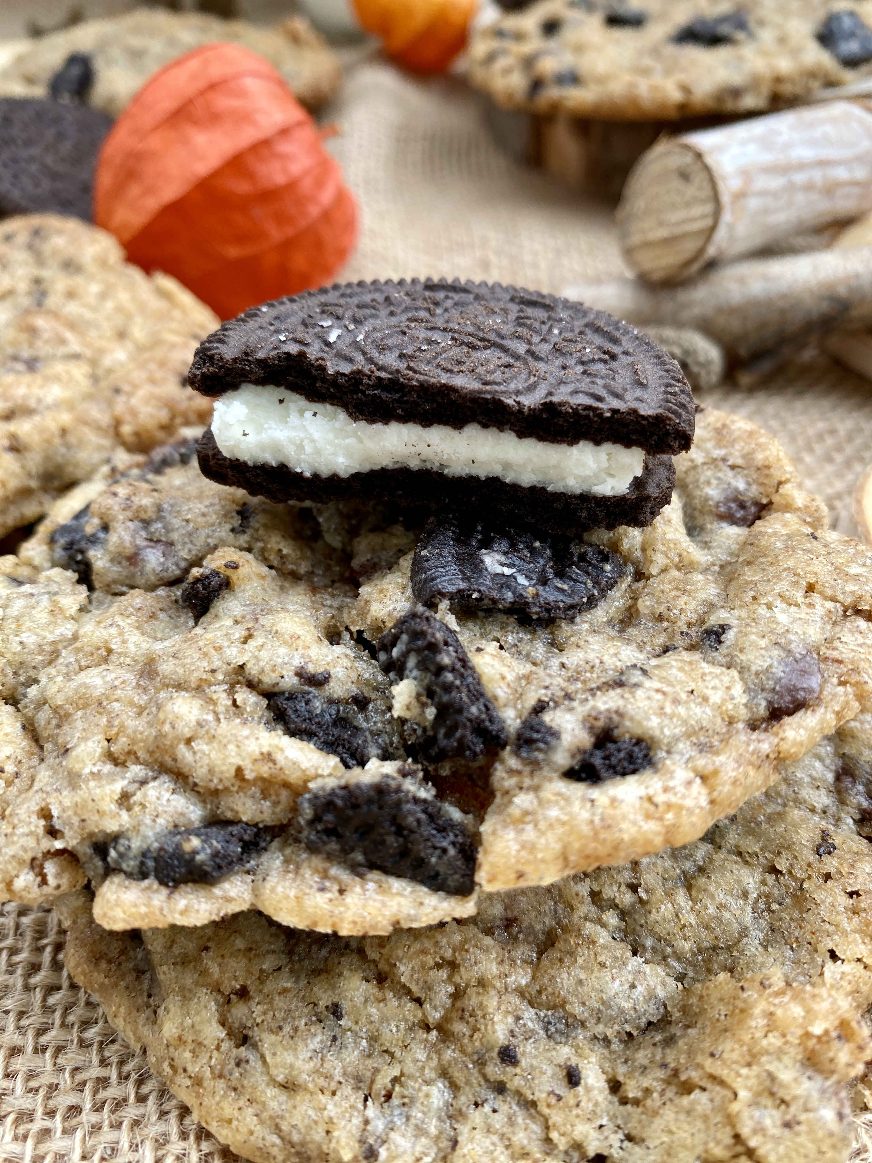 Choclate Chip Cookies mit Oreo
