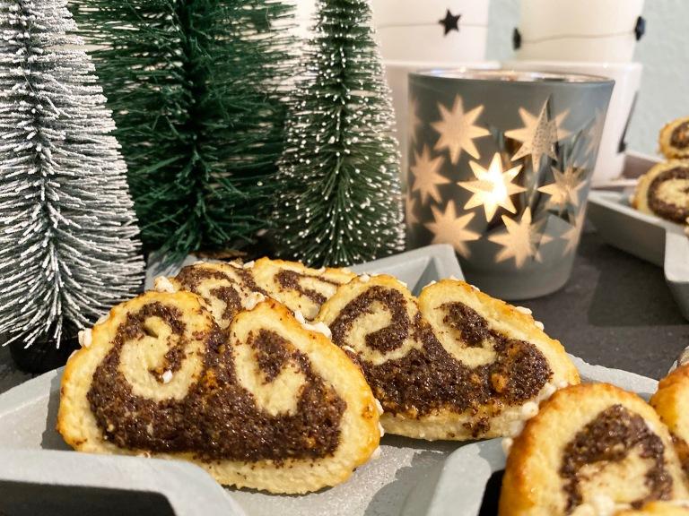 Mohnschnecken Kekse